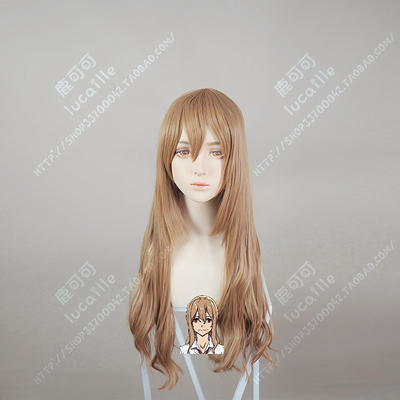 taobao agent Grappnell/Bound Finnir Aoki Red Love Laurel Brown Universal Cos Wig Female Cosplay