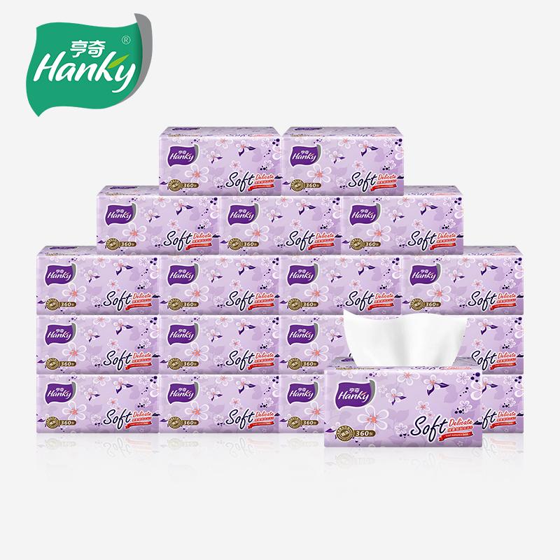 亨奇三层抽纸面巾纸餐巾纸120抽24包