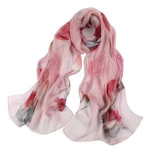 上海故事夏季真丝丝巾女中年妈妈时尚洋气百搭春秋薄款桑蚕丝围巾