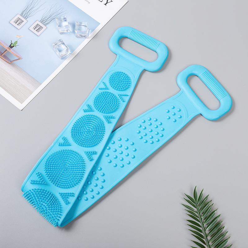 【搓背神器】双面天然硅胶搓澡巾