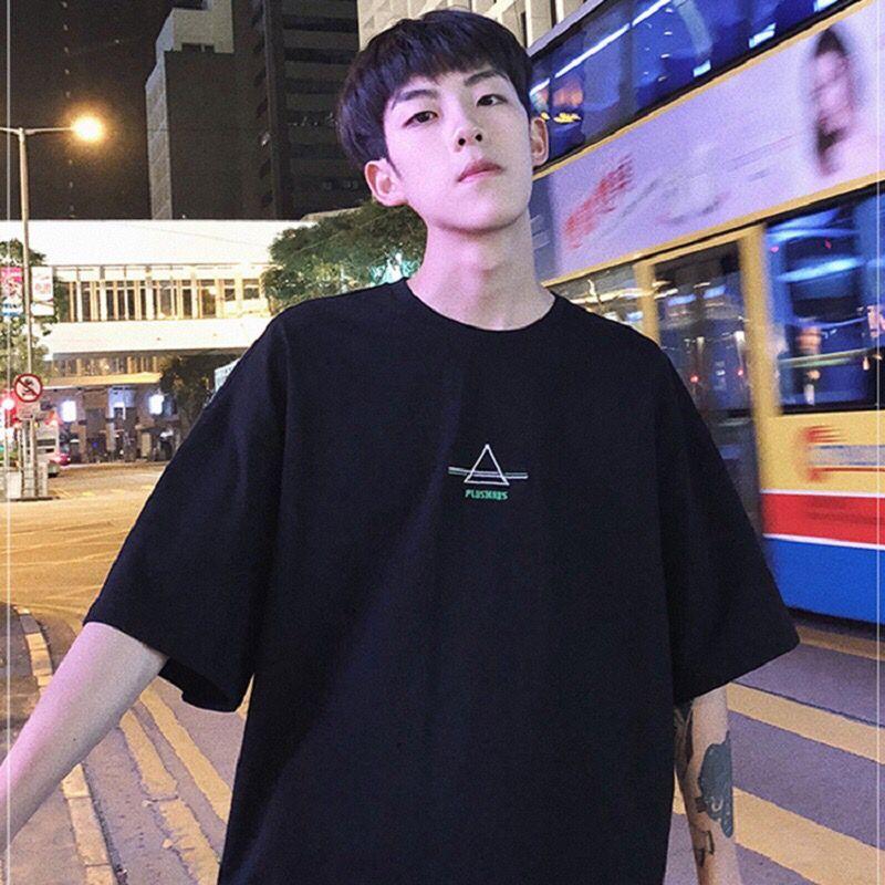 五分袖T恤男学生韩版宽松百搭原宿风
