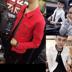 Áo khoác nam denim net màu đỏ Wu Di Li Yaoyang với người đàn ông áo khoác của tay nhanh chóng người đàn ông da đỏ cháu trai xã hội tinh thần chàng Áo khoác
