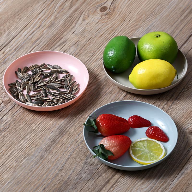 碟子家用塑料创意拼盘零食小吃小碟子北欧ins风可爱吐骨碟仿瓷盘