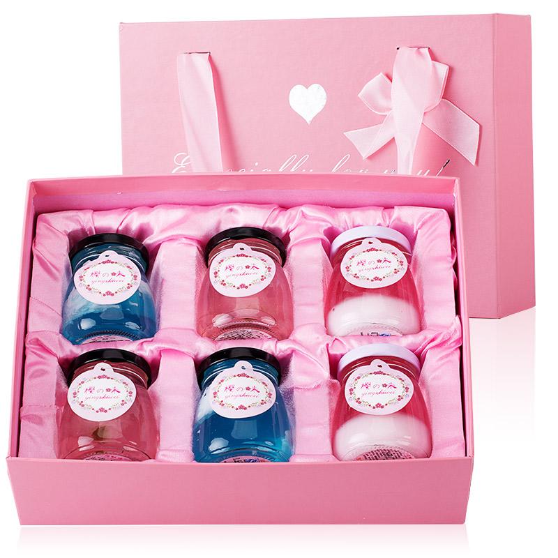 樱之味 日式樱花果冻布丁礼盒,生日情人节创意礼物