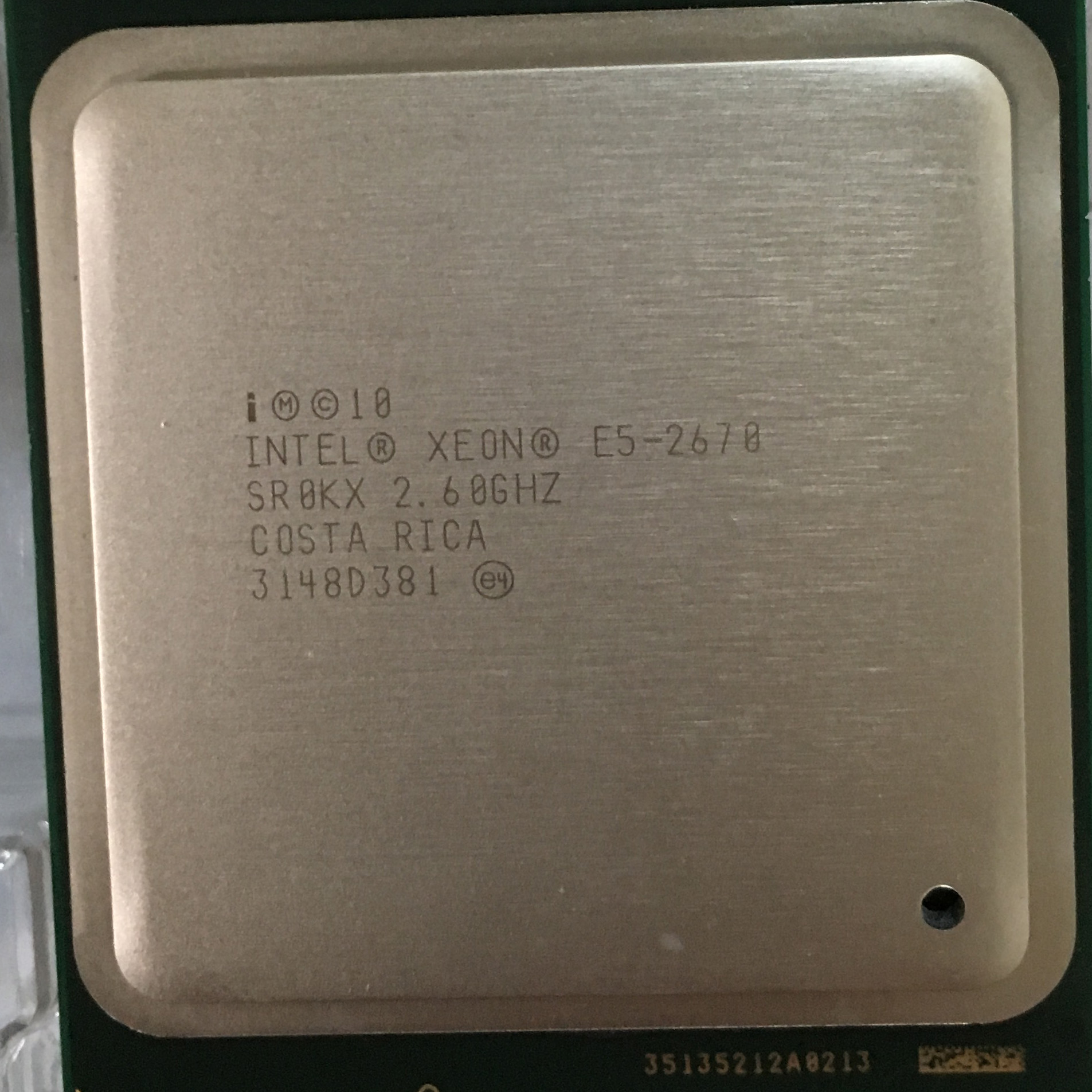 Intel Xeon E5-2670 CPU Eight-core 16 thread 2011 SMD C2 official version  X79 motherboard