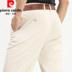 Mới quần âu nam mùa hè ánh sáng màu mỏng Pierre Cardin chống nhăn trung niên thẳng lụa cotton cao eo