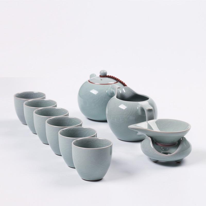 汝窑小茶杯主人杯闻香杯汝瓷蝉翼纹金丝