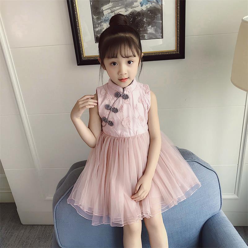 新款韩版女童旗袍连衣裙-优惠券10元淘宝包邮