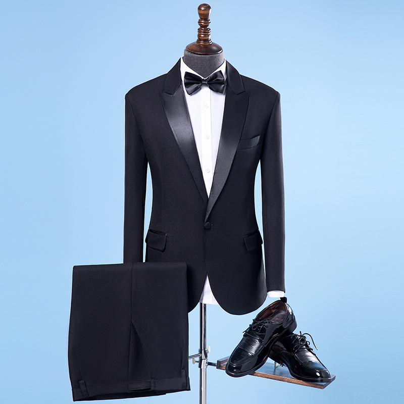 Trang phục nam phù hợp với ca sĩ máy chủ ăn mặc của nam giới dành cho người lớn điệp khúc quần áo hiệu suất quần áo nam