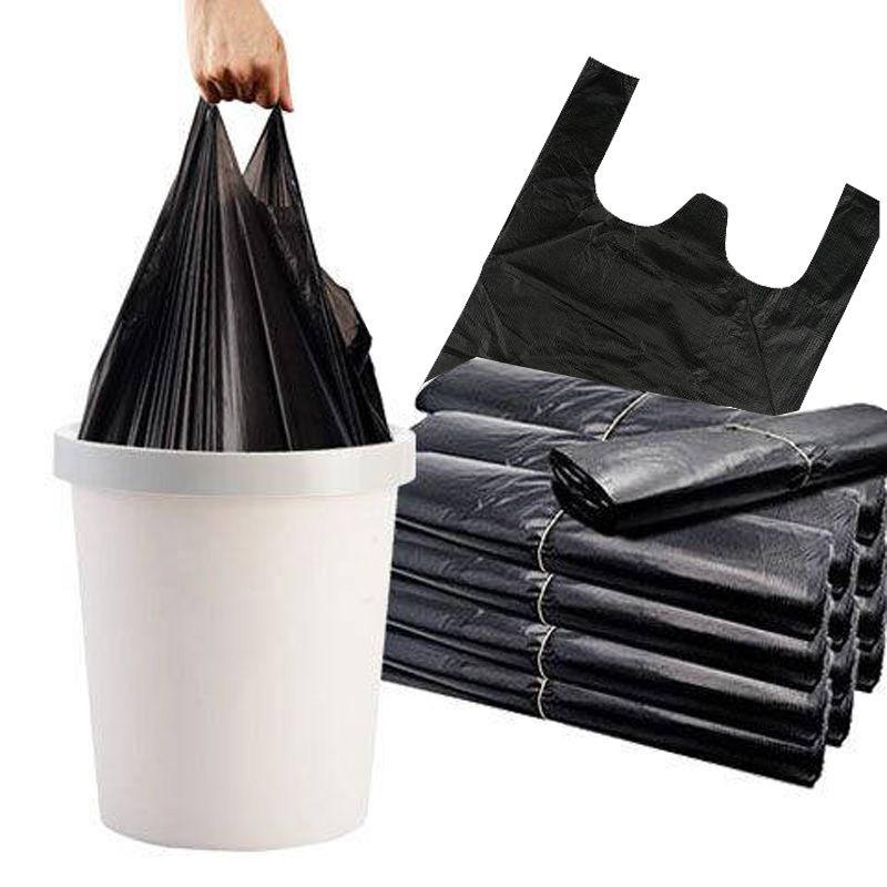 垃圾袋家用加厚黑色手提背心式拉圾袋