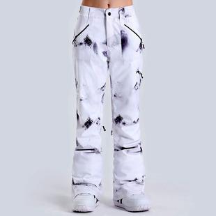 Подлинный  Gsou snow мисс катание на лыжах брюки тарелка двойная доска катание на лыжах брюки водонепроницаемый теплый корейский катание на лыжах брюки