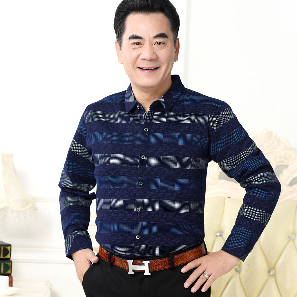 中年爸爸夏装短袖t恤冰丝polo衫