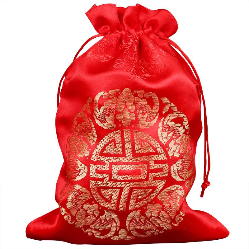 一斤装喜蛋红色喜糖袋鸡蛋包装盒红蛋糖果袋子满月布袋喜袋结婚礼