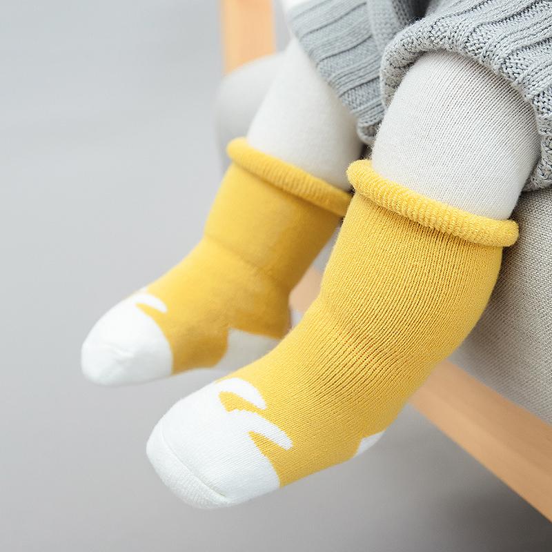 宝宝中筒袜婴儿加厚毛圈松口袜子-秒客网