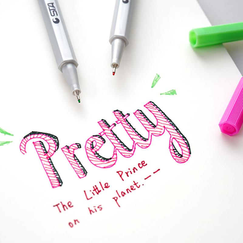 韩国可爱创意小清新中性笔网红少女心学生用彩色黑水笔创意手账笔