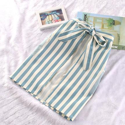 半身短款围腰围裙韩版日式小清新家居厨房围腰裙奶茶店工作服罩衣