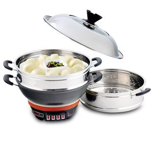 多功能电热加厚铸铁电蒸炒煮锅2-6电炒锅