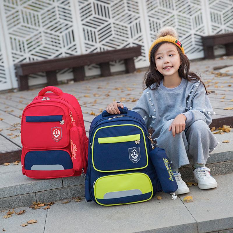 小学生书包女童1-3年级6-12周岁4-6年级书包男孩儿童减负双肩背包
