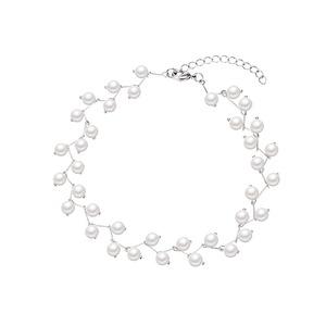 珍珠項鏈日韓頸帶簡約仙女樹杈水晶鎖骨鏈短款項鏈choker亮片頸鏈