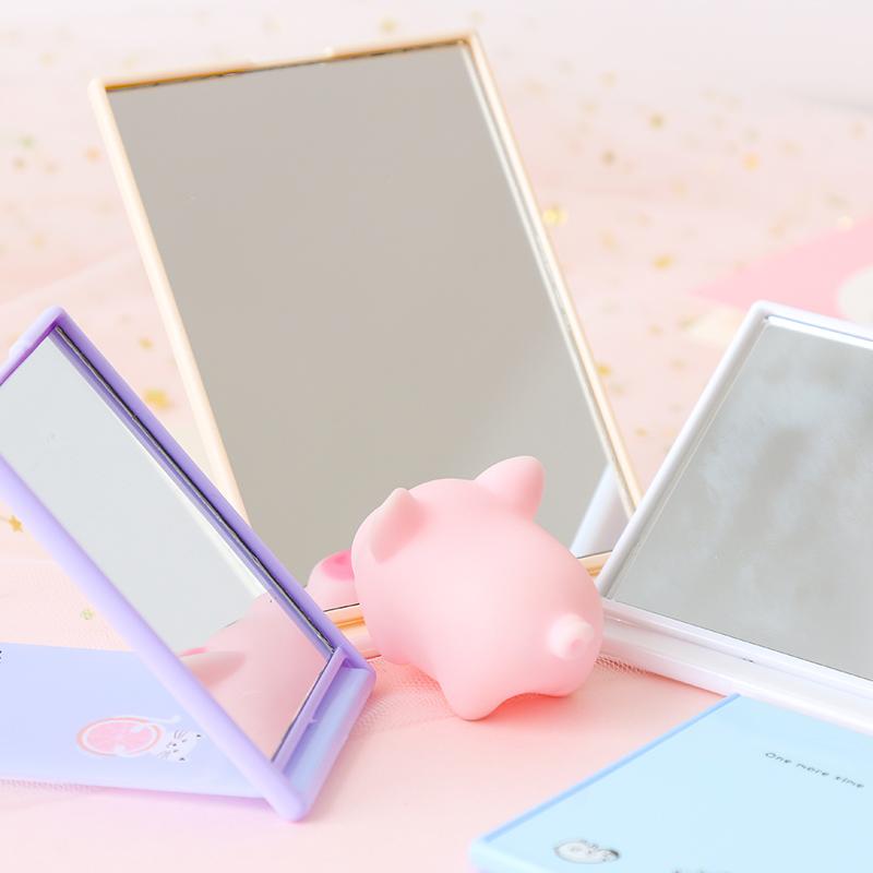 创意台式化妆镜便携式随身化妆镜小镜子可折叠公主镜小清新梳妆镜