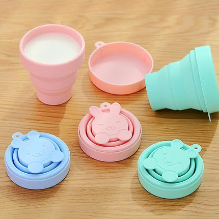 日本折叠可伸缩杯子便携式硅胶收缩水杯户外旅游漱口旅行洗漱压缩