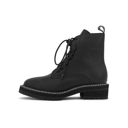 大幂幂同款马丁靴女英伦风薄款短靴网红ins秋季黑色中筒机车靴酷