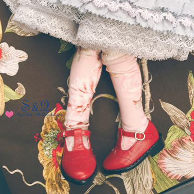 taobao agent BJD six-point baby shoes giant baby 1/4 YOSD 1/6 MDD big six-point T-shaped small leather shoes