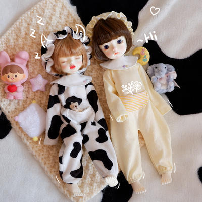 taobao agent BJD 6 points baby clothes baby cow crawling clothes suit baby clothes pajamas 1/6 yosd doll clothes 30