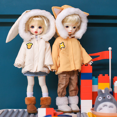 taobao agent BJD 6 points baby clothes small animal padded jacket down jacket coat top 1/6 yosd doll clothes big 6 points