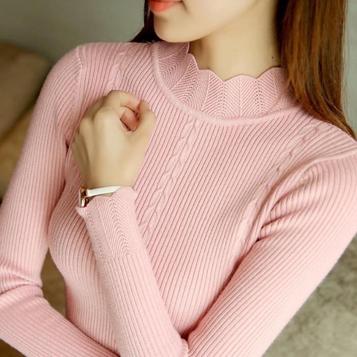 2018秋冬新款高领毛衣女韩版套头学生长袖宽松针织打底衫百搭加厚
