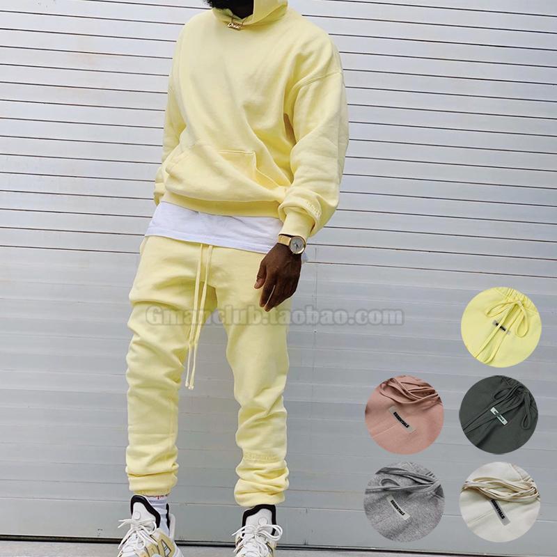 高街Fear of god fog Essentials™ 限定加绒束脚休闲运动卫裤5色