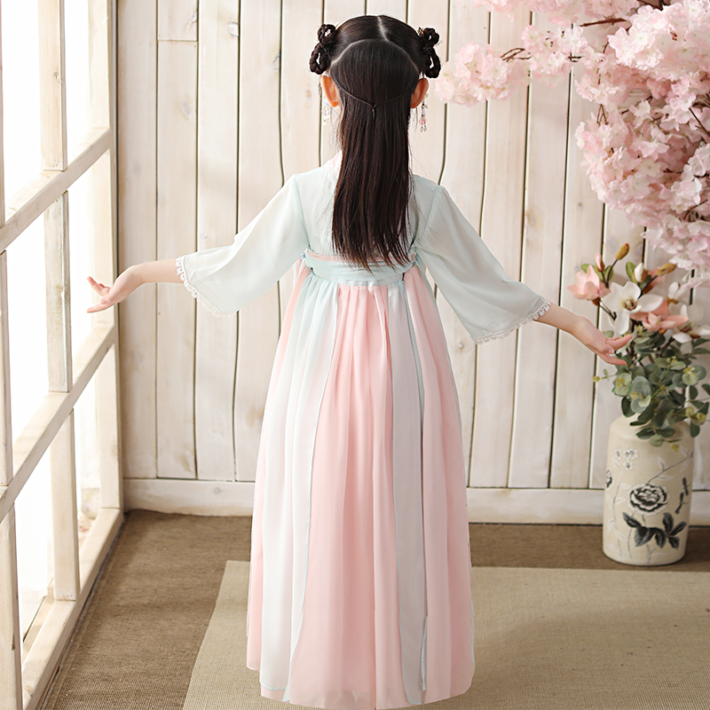 Hanfu girls spring new 2020 children long Chinese style 10 Tang suit dress costume 12-year-old girl skirt