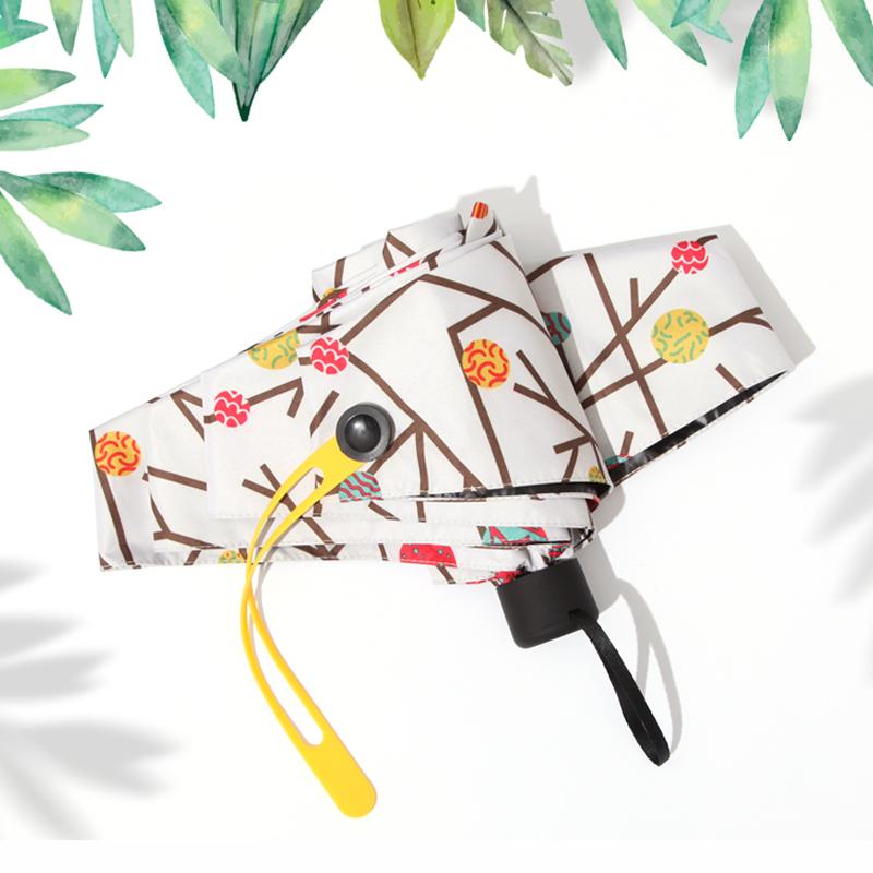 迷你太阳伞五折口袋伞超轻小雨伞女三折叠