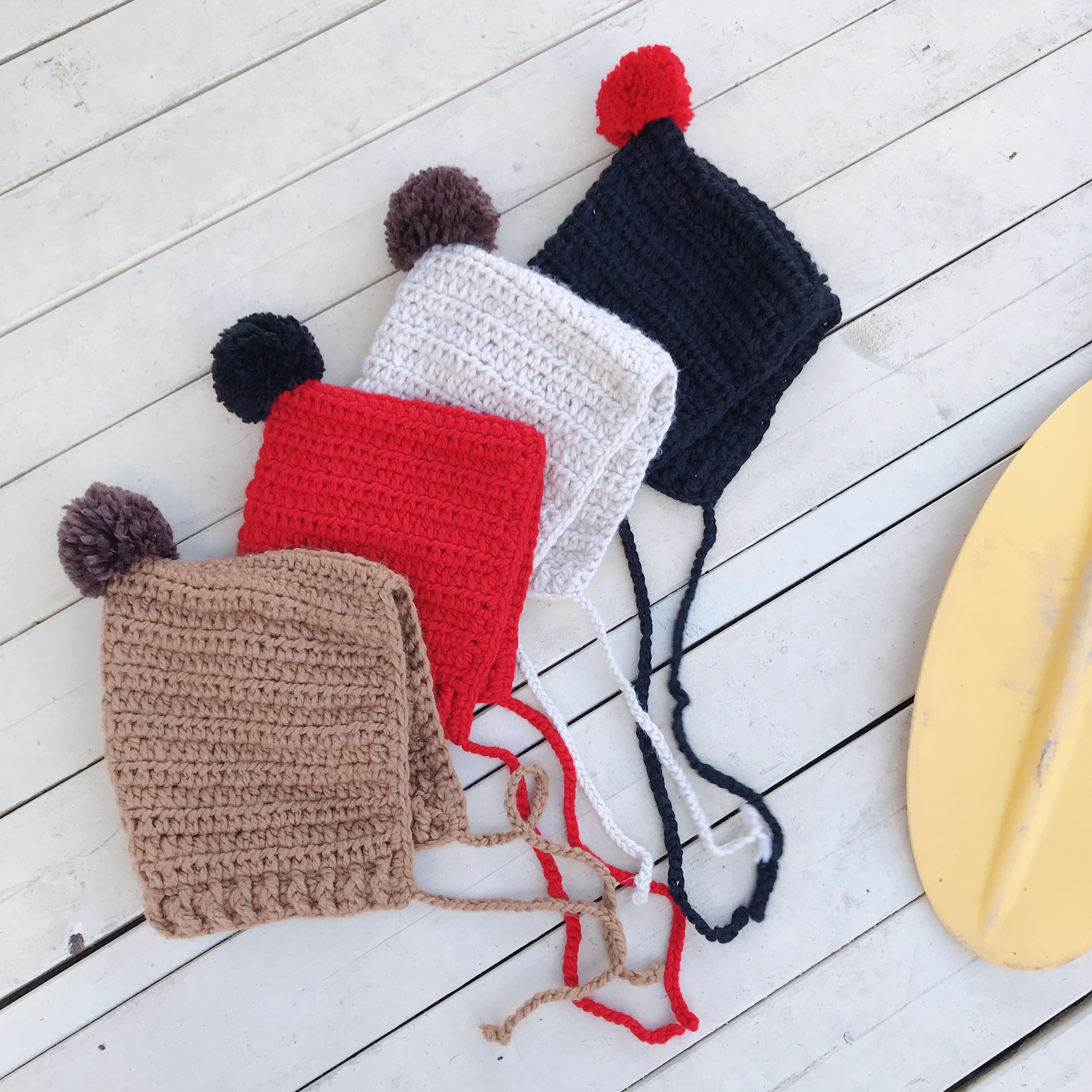 小森妈婴童店 女童毛线帽冬季新款凹造型帽子保暖针织帽