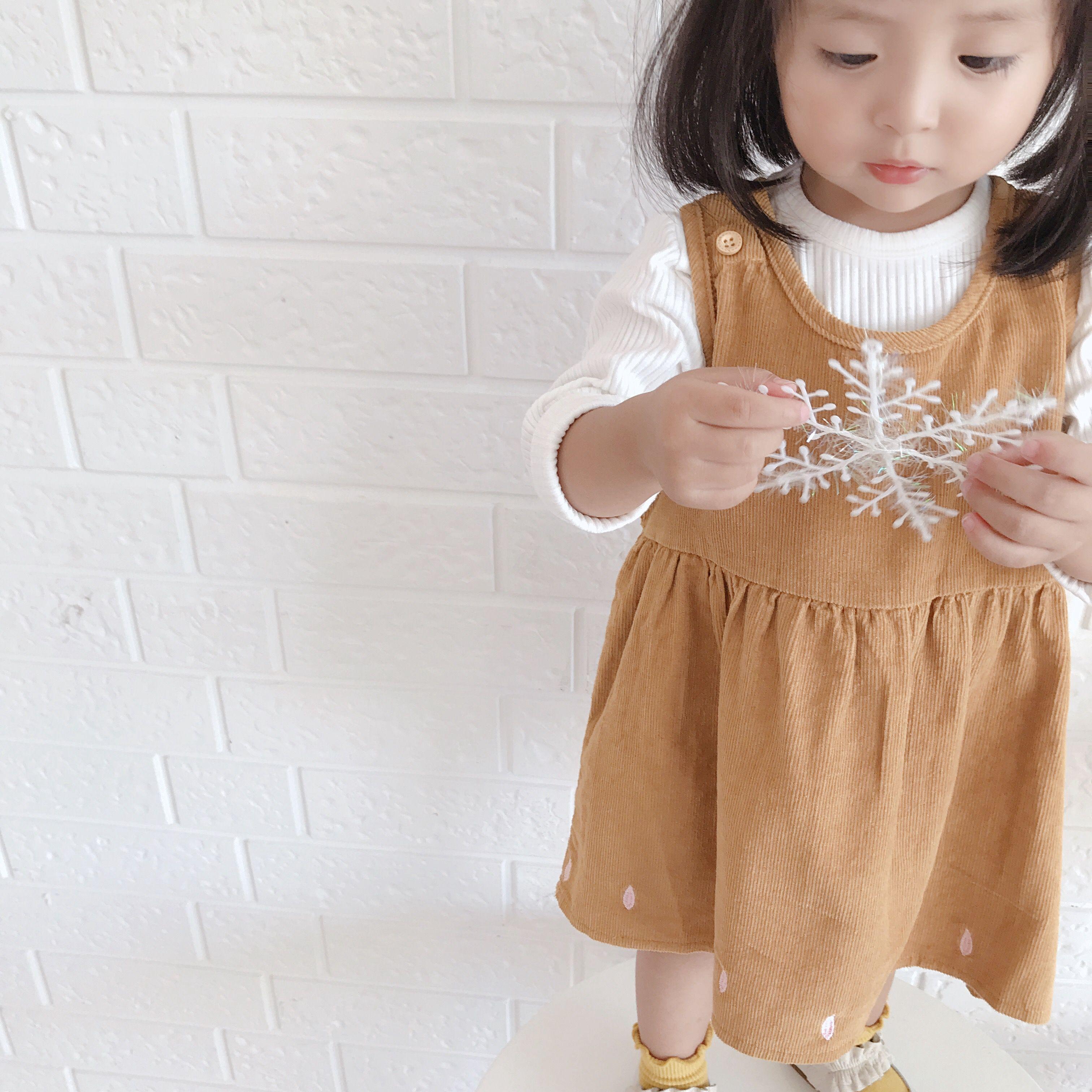 【6.1元专场】小森家婴童店 女宝宝灯芯绒背带裙