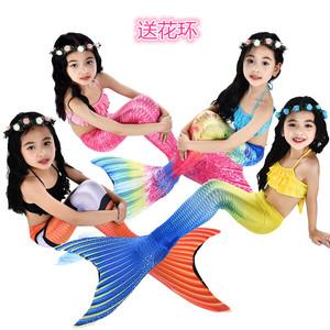 Trẻ em của nàng tiên cá đồ bơi cô gái công chúa quần áo nàng tiên cá đuôi mermaid quần áo cô gái đồ bơi