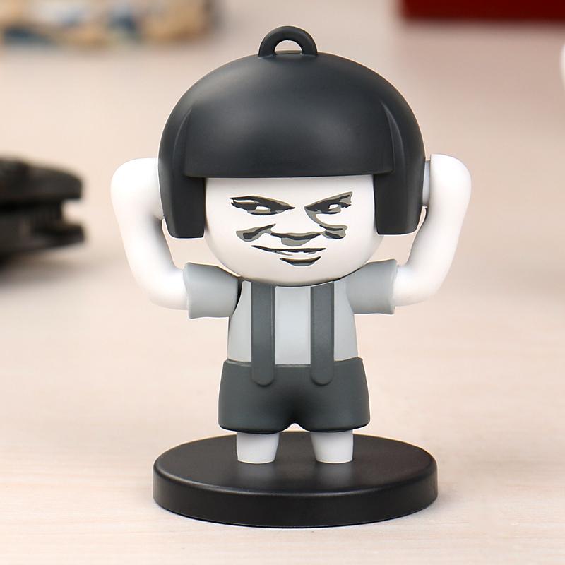 抖音同款玩具:蘑菇头变脸钥匙扣
