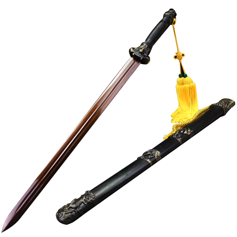 han jian gluttonous huaying longquan sword sword integrative pattern of cold steel, manganese steel town curtilage martial arts is not edged usually