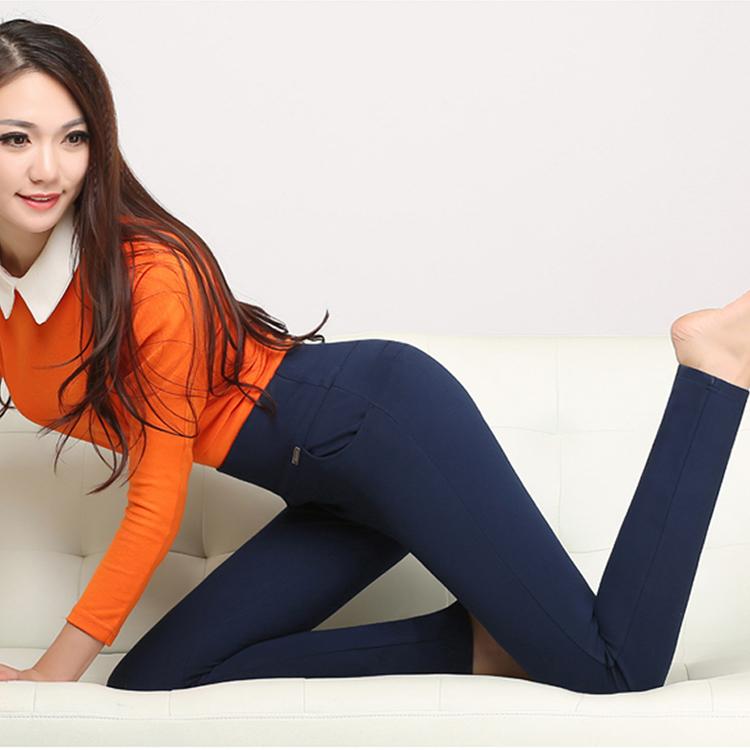 Mùa hè căng cao eo mặc quần chân chín điểm chất béo mm kích thước lớn nữ phần mỏng xà cạp mẹ quần bảy điểm mùa xuân