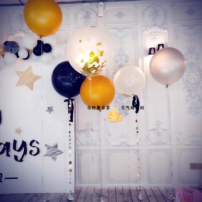 36寸大号乳胶圆形粉色气球婚房婚礼布置周岁生日装饰用品