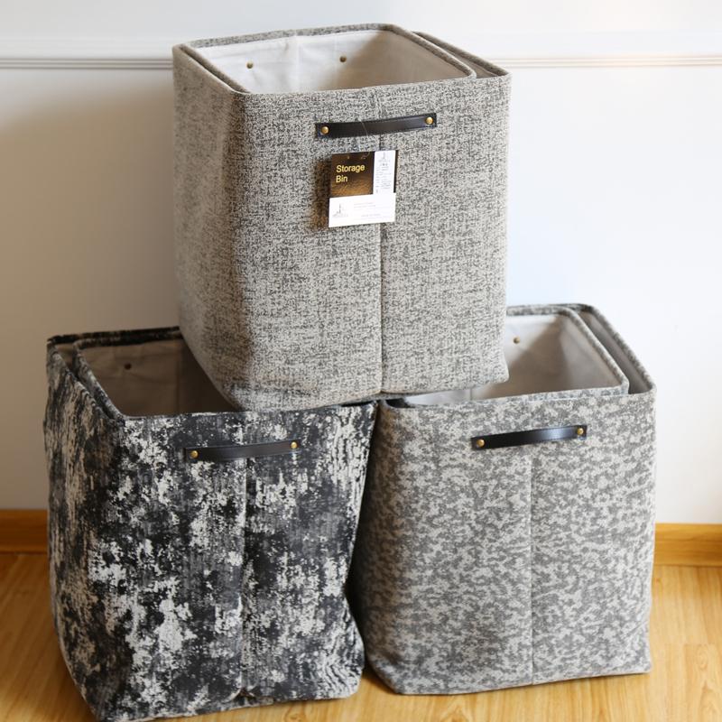出口款毛呢提花脏衣篮家用超大加厚布艺收纳筐可手提放脏衣服篓子