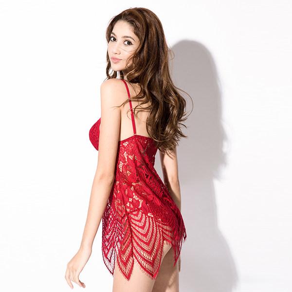 MI YOU 性感全蕾丝波西米亚吊带睡裙套装 优惠券折后¥25包邮(¥75-50)2色可选