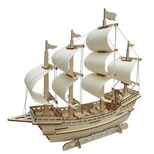木制3D立体拼图益智玩具儿童拼装建筑积木