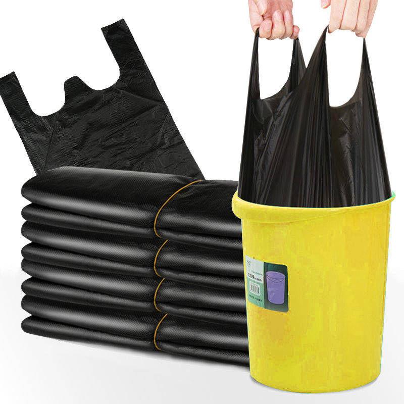 【100只】加厚垃圾袋手提黑色垃圾袋