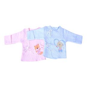 【2件】新生儿四季空气棉半背衣