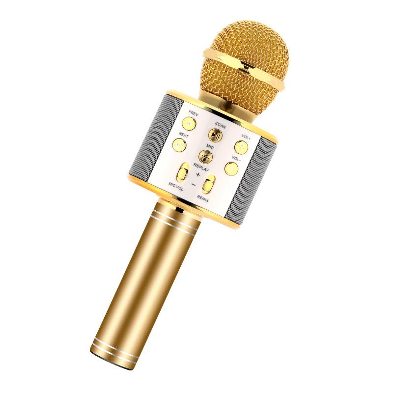 ws858无线蓝牙麦克风全民K歌神器手机掌上KTV自带话筒音响一体