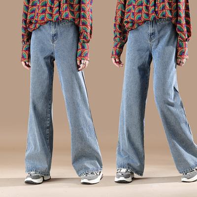 素木高腰牛仔裤女宽松直筒拖地阔腿裤显高显瘦春秋新款ACP304