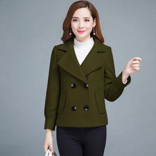 短款毛呢外套女秋冬季时尚年轻妈妈装百搭宽松显瘦小个子呢子大衣