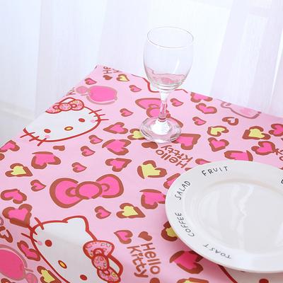 Phim hoạt hình trẻ em bàn vải bảng vải dễ thương màu hồng Hello Kitty mẫu giáo vải khăn trải bàn không thấm nước bàn cà phê vải Khăn trải bàn