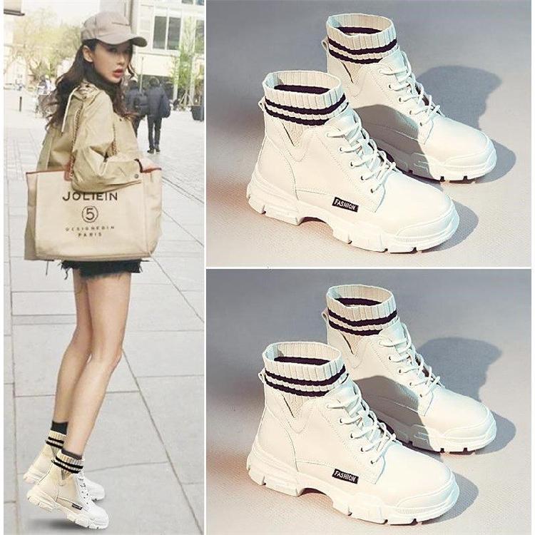 马丁靴女鞋秋季新款2020年冬季加绒加棉靴子女韩版百搭英伦风短靴